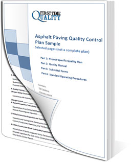 Asphalt Paving Quality Plan