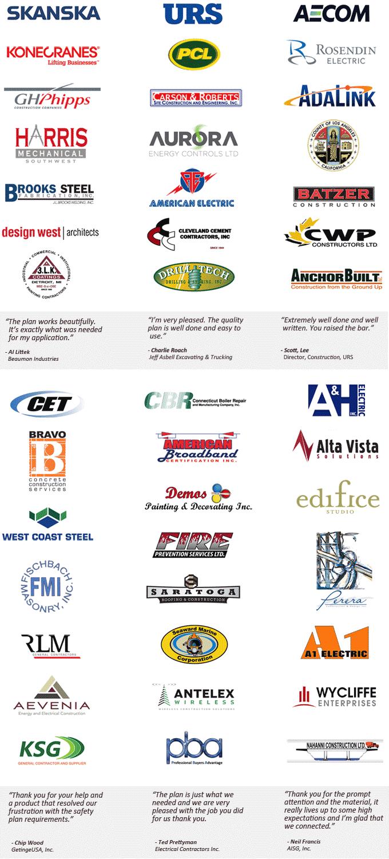 Construction Quality Control Plan Customer Testimonials