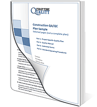 Construction Quality Plan Sample Bookcover