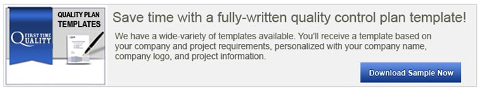 download construction  quality control plan sample