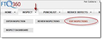 Edit inspections