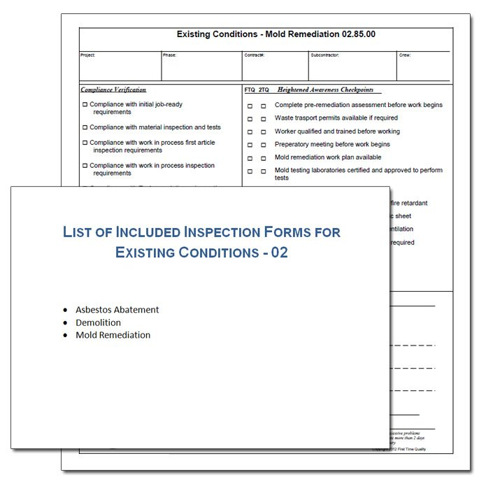 existing condition inspection form example