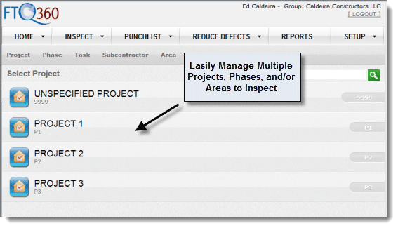 FTQ360 Manage Multiple Projects 2