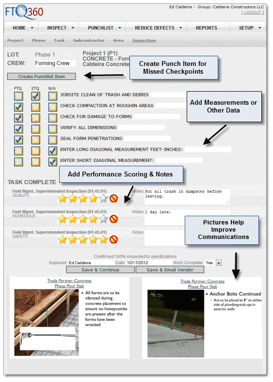 FTQ360 Mobile Checklist Image