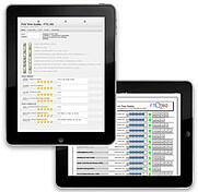 FTQ360 mobile, touch-screen app.