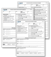 Inspection checklist forms image
