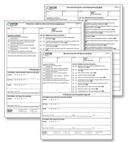 Construction Inspection Checklist Form Image