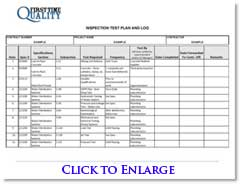 Inspection Test Plan Example