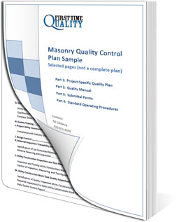 Masonry Quality Control Plans Download A Sample