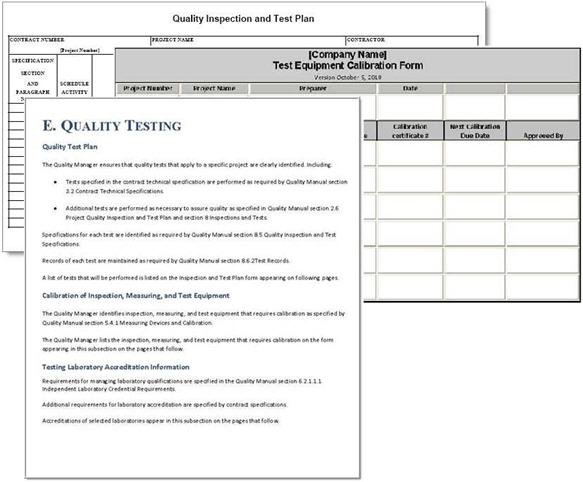 Project plan sample forms project quality plan example pronofoot35fo Image collections
