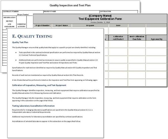 Project Quality Plan Example