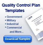 Quality Control Plan Templates