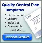 Standard operating procedures table of contents for Contractor quality control plan template