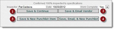 Saving emailing and creating punchitems