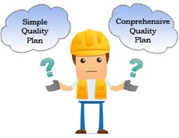 simple quality control plan vs comprehensive for construction