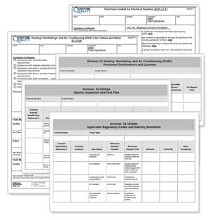 trade specific quality plan information