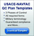 USACE-NAVFAC QC Plan Sample